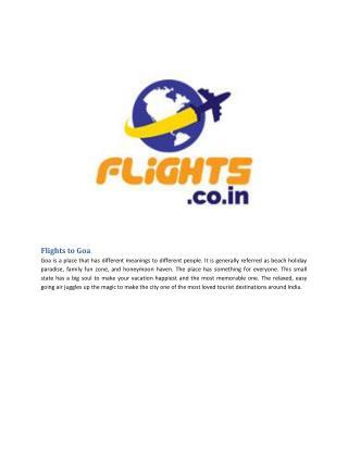 Cheap Flights To Goa