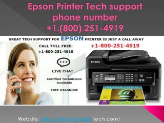 1-800-251-4919 EPSON Printer Technical Support Phone Number