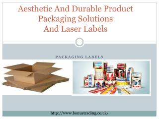 Aesthetic And Durable Product Packaging Solutions And Laser Labels