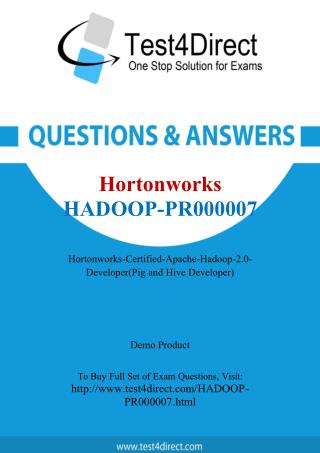 Hortonworks Hadoop-PR000007 Exam - Updated Questions