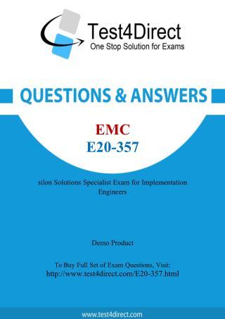 EMC E20-357 Test Questions