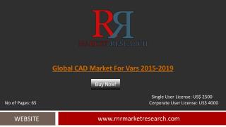 VARs CAD Market 2015 – 2019: Worldwide Forecasts Report