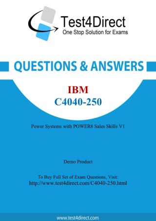 C4040-250 IBM Exam - Updated Questions