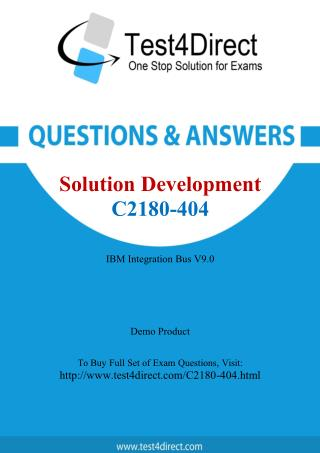 IBM C2180-404 Test - Updated Demo