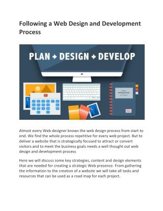 Following a Web Design and Development Process