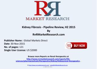 Kidney Fibrosis Pipeline Review H2 2015