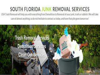Coral Springs junk removal Florida