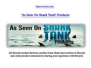 Products As Seen On Shark Tank