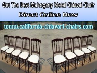 Get The Best Mahogany Metal Chiavai Chair Direct Online Now