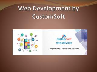 Website Development by CustomSoft
