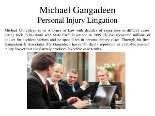 Michael Gangadeen Personal Injury Litigation