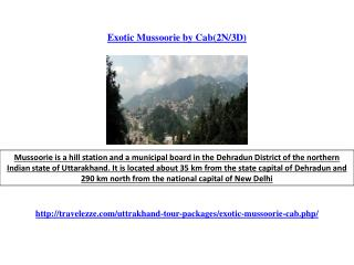 Exotic Mussoorie by Cab(2N/3D)