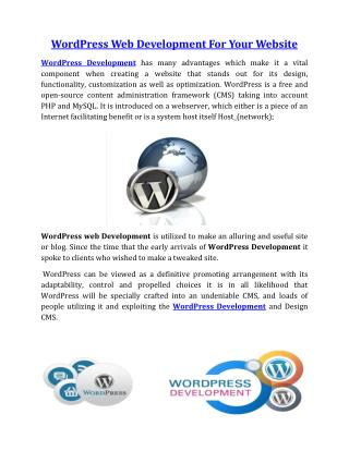 WordPress Web Development For Your Website