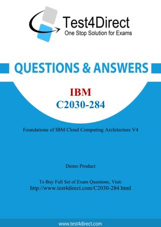 IBM C2030-284 Test Questions