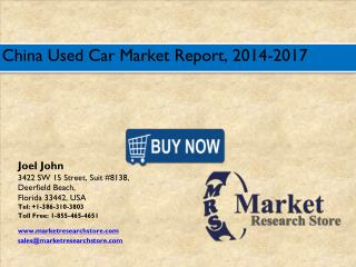 China Used Car Market 2016: Size, Share, Trends, Growth Analysis Forecast