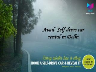 Discover the best ride at self drive car rental in Delhi