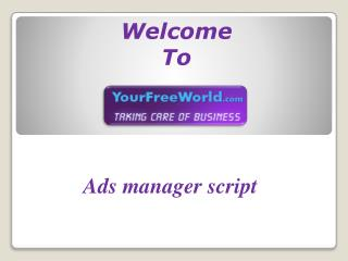 Ads manager script