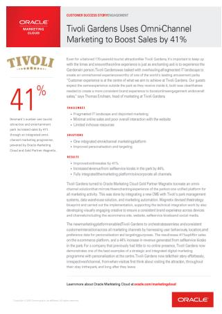 Tivoli Gardens Uses Omni-Channel Marketing to Boost Sales