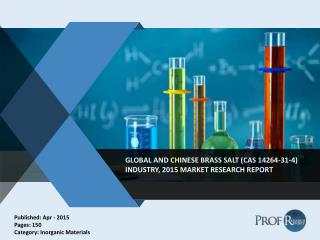 Global and Chinese Brass Salt Industry Trends, 2010-2020