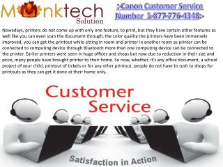 Get the easy and instant solution for Canon Printer 1-877-776-4348