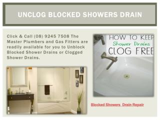 Unclog Blocked Showers Drain Repair
