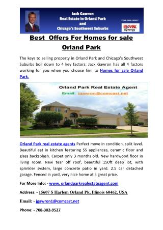 Best  Offers For Homes for sale Orland Park