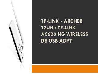TP-Link - ARCHER T2UH  TP-Link AC600 HG Wireless DB USB Adpt