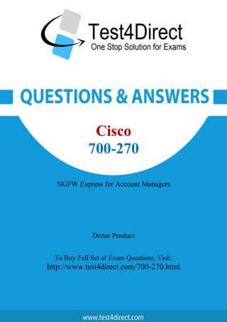 700-270 Cisco Exam - Updated Questions