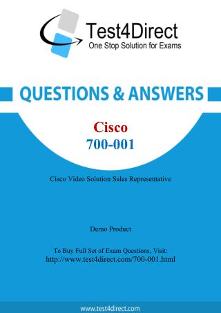 Cisco 700-001 Test Questions