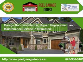 Garage Door Repair, Maintenance and Installation Service in Brampton