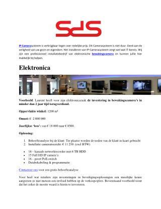 SDS Is Gespecialiseerd In Beveiligingsoplossingen Met Camerabewaking