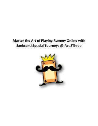 Ace2Three Sankranti Special Tourney – Win Upto Rs. 10 Lakhs