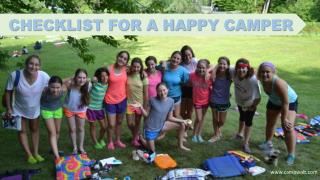Checklist Of A Happy Camper