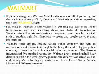 Best Way To Find Walmart Outlet Stores Location