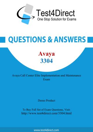 Avaya 3304 Exam Questions