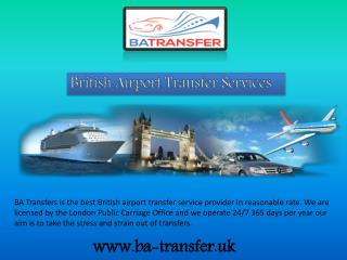 Pick Your British Airport Transfer Services