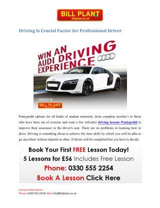 Driving lessons Pontypridd