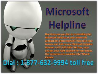 Microsoft Helpline @###@ 1-877-632-9994 toll free number