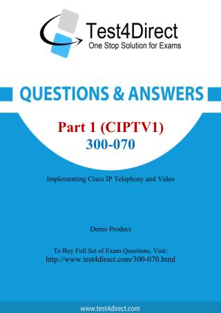 Cisco 300-070 Exam - Updated Questions