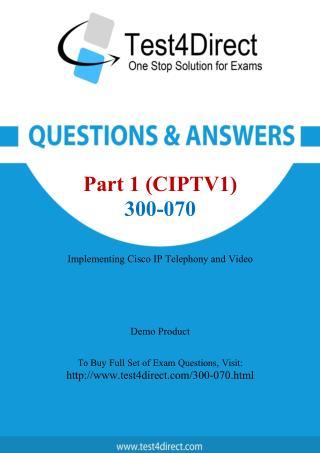 Cisco 300-070 Exam - Updated Questions