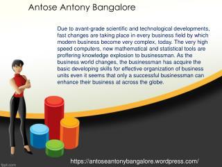 Antose Antony Bangalore