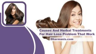 Causes And Herbal Treatments For Hair Loss Problem That Work