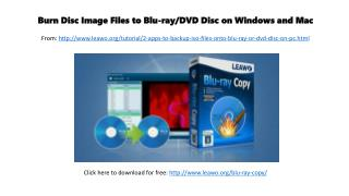 Burn disc image files to blu ray dvd or disc on windows and mac