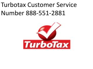 Turbotax Customer Service Number 888-551-2881