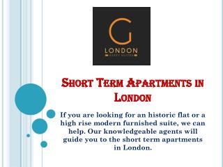 Short Term Apartments in London