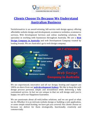 Clients Choose Us Because We Understand Australian Business