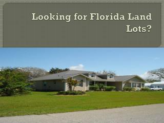 Florida Land Lots�