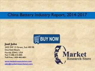 China Battery Market 2016- Size, Share, Trends, Growth, Analysis, Forecast