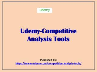 -Competitive Analysis Tools