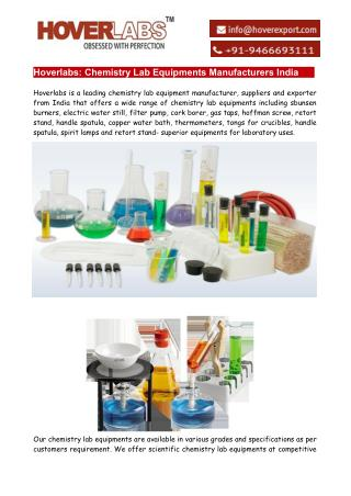 Chemistry Lab Equipments Manufacturers India